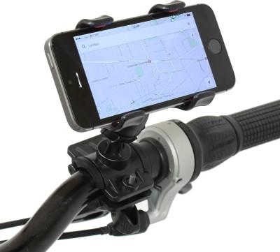 Fingers Universal Handlebar 360 Degree Rotation for All Cell Phones Bicycle Bike Mobile Holder(Black)