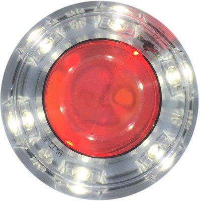 Vheelocityin Thick Motorcycle / Bike / Scooter Projector Head Lamp LED Light White Ring For Tvs Wego Projector Lens