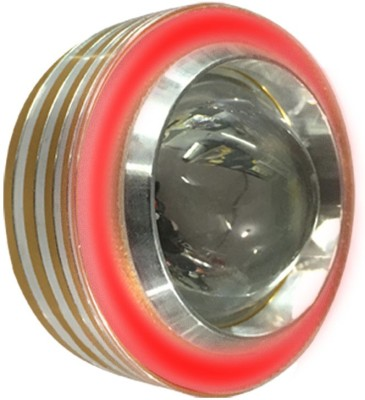 Vheelocityin COB Ring Motorcycle / Bike / Scooter Projector Head Lamp LED Light Red Ring For Royal Enfield Bullet Electra Twinspark Projector Lens