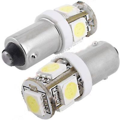 KASCN 5050 5 SMD WHITE LED LIGHT / LAMP / BULB T10 Socket Parking , Indicator (12v) Set of 2 for Royal Enfield Bullet Projector Lens
