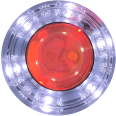 Vheelocityin Thick Motorcycle / Bike / Scooter Projector Head Lamp LED Light Blue Ring For Royal Enfield Bullet Electra Twinspark Projector Lens