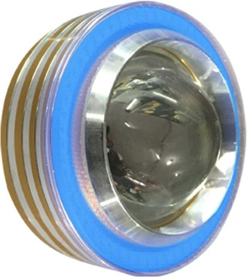 Vheelocityin COB Ring Motorcycle / Bike / Scooter Projector Head Lamp LED Light Blue Ring For Royal Enfield Continental Gt Projector Lens