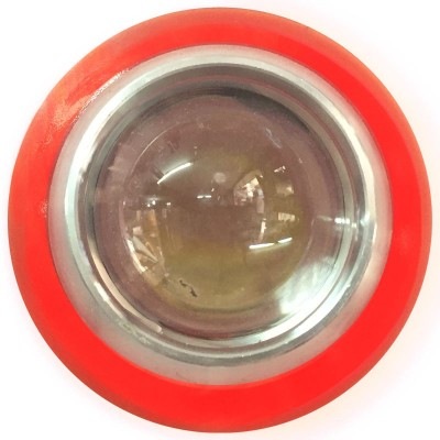 Vheelocityin Reflector Motorcycle / Bike / Scooter Projector Head Lamp LED Light Red Ring For Tvs Scooty Zest Projector Lens