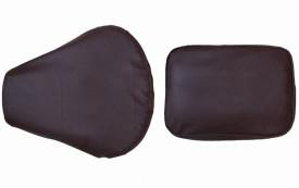 Almos CC-Dark Brown Split Bike Seat Cover For Royal Enfield Classic Chrome