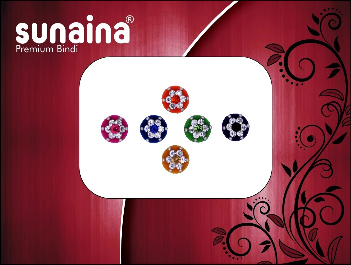 Sunaina PREMIUM COLLECTION FOREHEAD Multicolor Bindis(Fancy Design)
