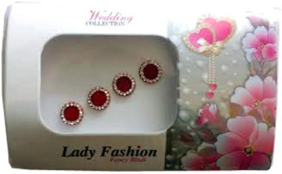 Lady Fashion Red Stone Forehead Red Bindis