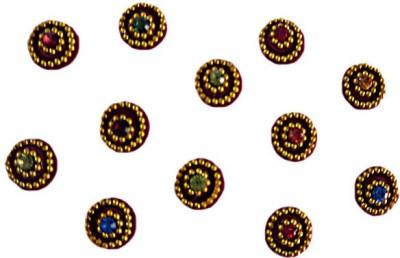 DCS Round Design Bindi Forehead Multicolor Bindis