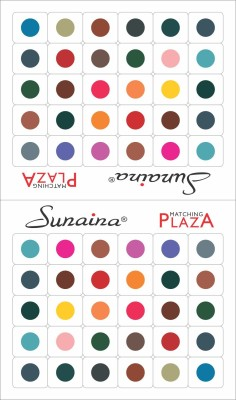Sunaina Matching Plaza Size-4 FOREHEAD Multicolor Bindis(Fancy Design)