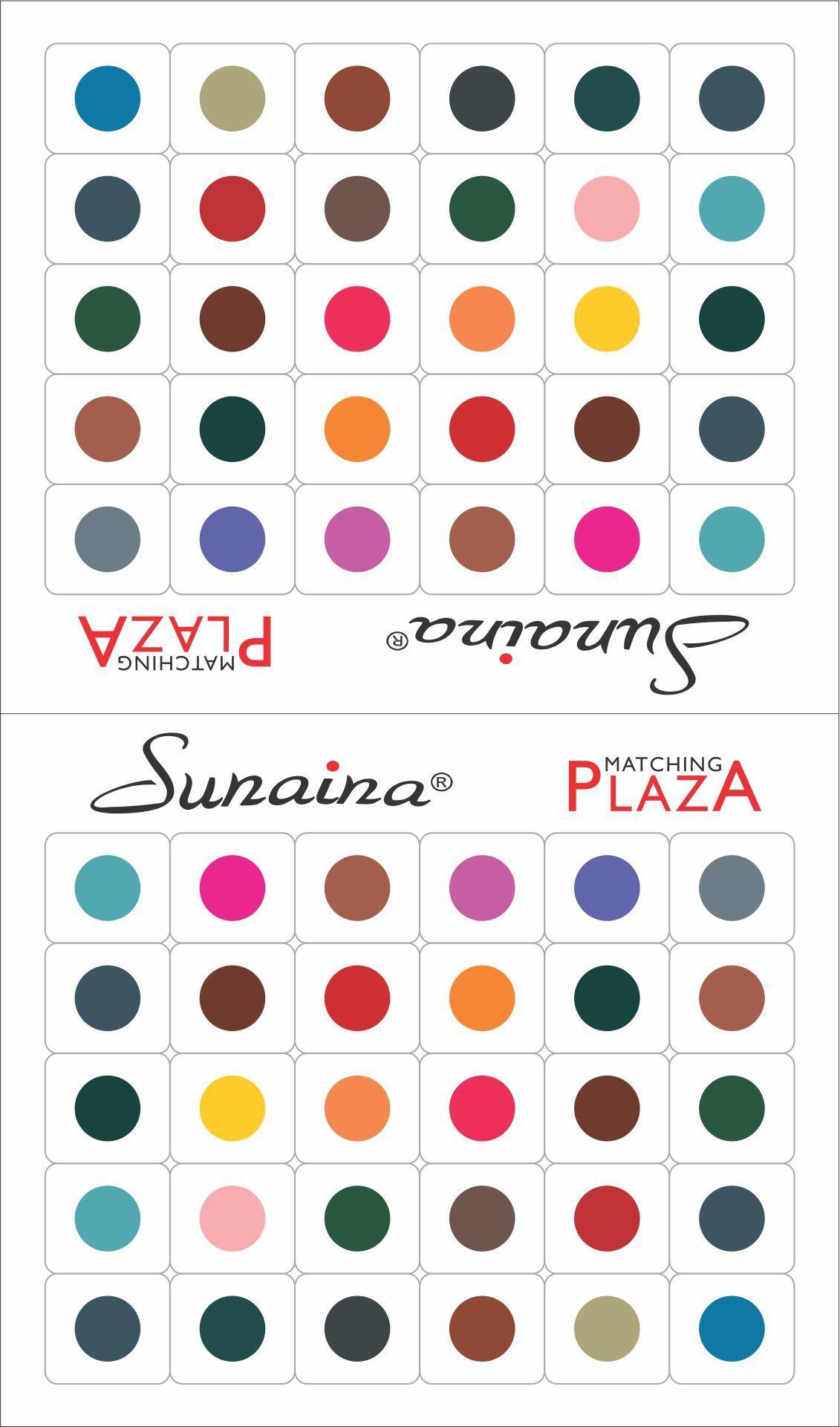 Sunaina Matching Plaza Size-4 FOREHEAD Multicolor Bindis(Fancy Design)