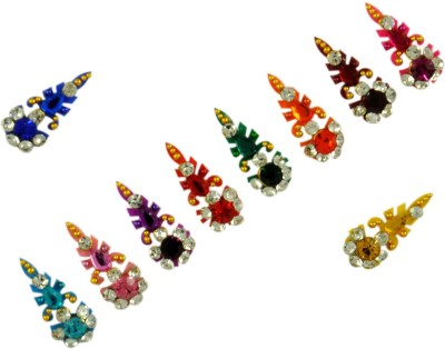 Instabuyz G0LDEN STONE FOREHEAD Multicolor Bindis(FANCY BINDI)