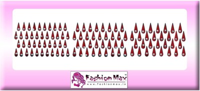 Fashion Max Mini Tika Crystal with Black Layer Forehead Maroon Bindis