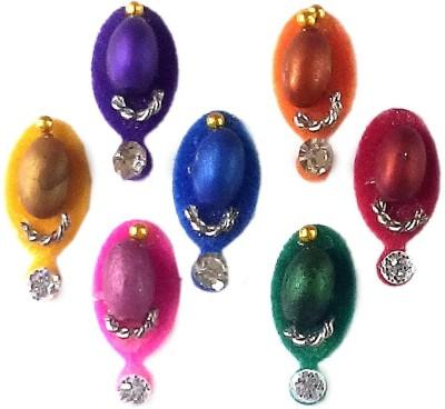 Fashion Max Multicolored Oval Dotted Forehead Multicolor Bindis