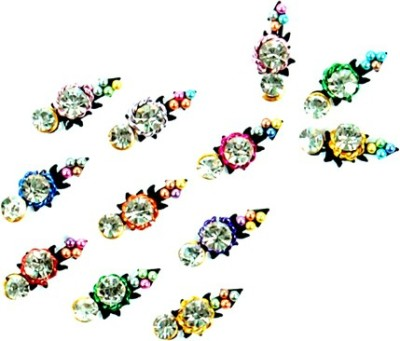 Seema 15 Stone Fancy Bindi Forhead Multicolor Bindis