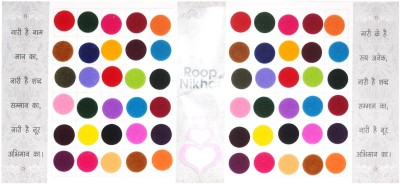Roop Nikhar Matching Plaza Size-2.5 Forehead Multicolor Bindis