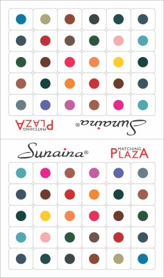 Sunaina Matching Plaza Size-5 Forehead Multicolor Bindis