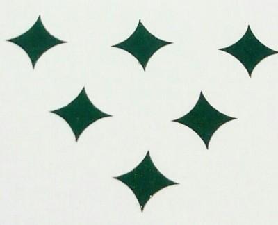 Parampara Dark Green Star Forehead Green Bindis