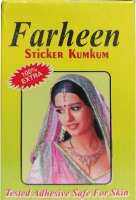 FARHEEN sticker kumkum forehead Maroon Bindis