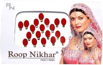 Roop Nikhar Oval with Crystal Vivah Collection Forehead Red Bindis