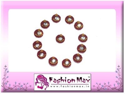 Fashion Max Full Moon with Decrotion and Crystal Forehead Red Bindis