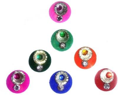 Fashion Max Full Moon Crystal Forehead Multicolor Bindis