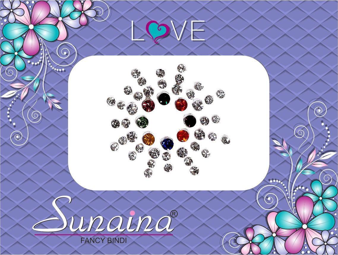 Sunaina Love Diamond Collection Forehead Multicolor Bindis(Fancy Design)