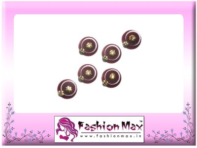 Fashion Max Sober High Society with Golden Crystal Forehead Maroon Bindis