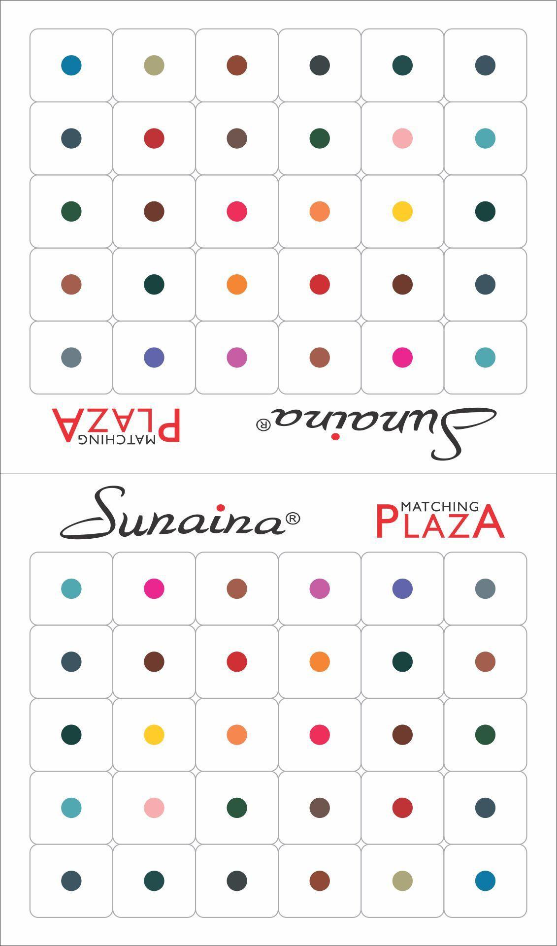 Sunaina Matching Plaza Size-7 Forehead Multicolor Bindis(Fancy Design)