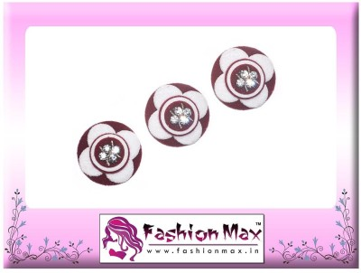 Fashion Max High Society Full Moon with Crystals Forehead Maroon Bindis