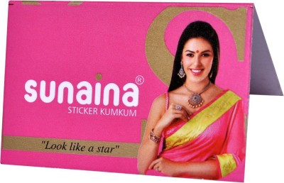 Sunaina Sticker Kumkum R-8 Forehead Red Bindis(Fancy Design)