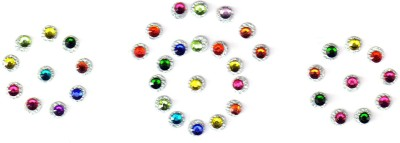 Fashion Max Fancy Crystal Forehead Multicolor Bindis