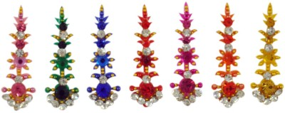 Instabuyz GOLDEN STONE FOREHEAD Multicolor Bindis(FANCY BINDI)