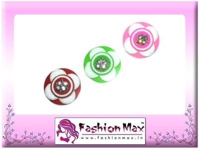 Fashion Max Lotus Full Moon with Crystal Decoration Forehead Multicolor Bindis
