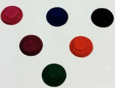 Parampara Multi Round Three In One Forehead Multicolor Bindis