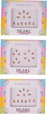 Sejal Bindi Fancy Premium Stone Forehead Multicolor Bindis