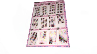 Rahul Toys MULTICOLOR SET IN PACK OF 12 FOREHEAD Multicolor Bindis
