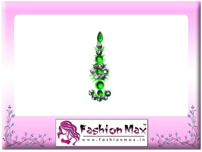 Fashion Max Highly Decorative Fashionable Long Tikka Bindi Forehead Green Bindis