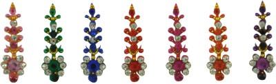 Instabuyz GOLDEN STONE FOREHEAD Multicolor Bindis(FANCY BINDI)