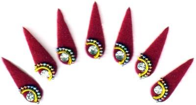 Fashion Max Tika Pattern Bindi Forehead Red Bindis