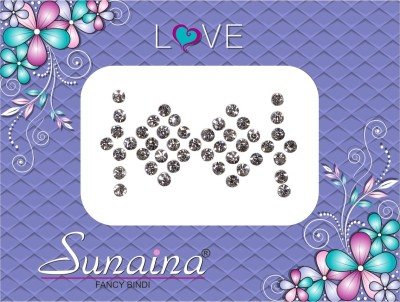 Sunaina Love Diamond Collection Forehead White Bindis