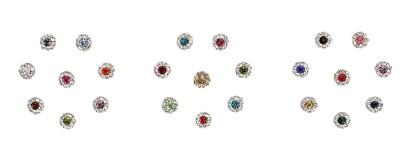 Instabuyz Round Boundary Stones 23p Women's & Girl's Multicolor Bindis(Fancy Design)
