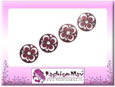Fashion Max Highly Decorative Hand Made Bindi Forehead Maroon Bindis