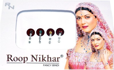 Roop Nikhar Vivah Hanging Crystal Collection Forehead Maroon Bindis