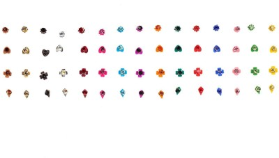 Instabuyz Precious Stone Women's & Girl's Multicolor Bindis(Fancy Design)