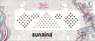 SUNAINA VIVAH COLLECTION 4 IN 1 FOREHEAD Multicolor Bindis
