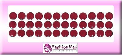 Fashion Max Full Moon with Crystal Forehead Maroon Bindis