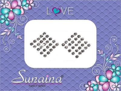 Sunaina Love Diamond Collection Forehead White Bindis(Fancy Design)