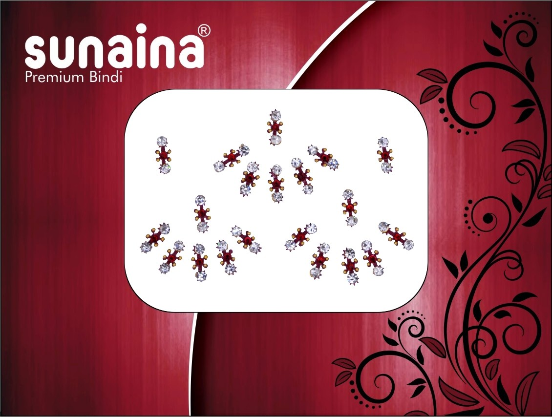 Sunaina PREMIUM COLLECTION FOREHEAD Maroon Bindis(Fancy Design)