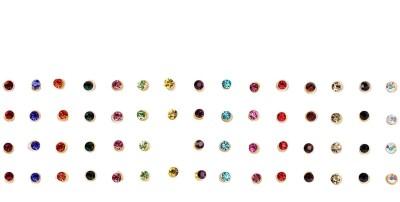 Instabuyz 60 pcs Precious Stones Women's & Girl's Multicolor Bindis(Fancy Design)