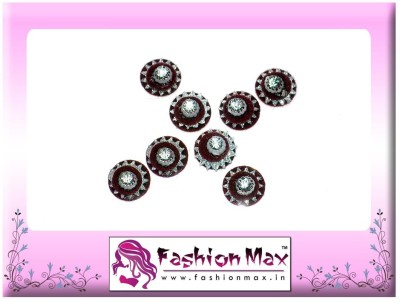 Fashion Max Red Full Moon Multi Layer with Stone Forehead Maroon Bindis