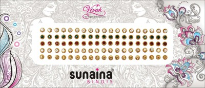 SUNAINA VIVAH COLLECTION 5 IN 1 FOREHEAD Multicolor Bindis